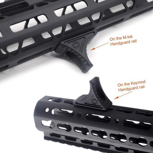 Forward Universal Hand Stop for both KeyMod & M-LOK MLOK Tactical Handguard