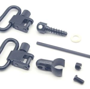 TRIROCK 1.0'' Rifle Lever Action Quick Detachable Sling Swivels & Screw Stud Base Mount Kit 22 Cal Split Band Fits Most .22 Caliber Rifles