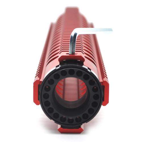 Trirock New 15'' Red Quad Rail Handguard Free Float Picatinny Rail Mount fits .223/5.56 rifle AR15 AR-15 M16