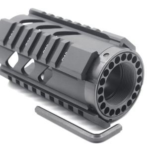 TRIROCK New 4'' Black Quad Rail Handguard Picatinny Rail Mount fits .223/5.56 rifle AR15 AR-15 M16 for real pistol shotgun