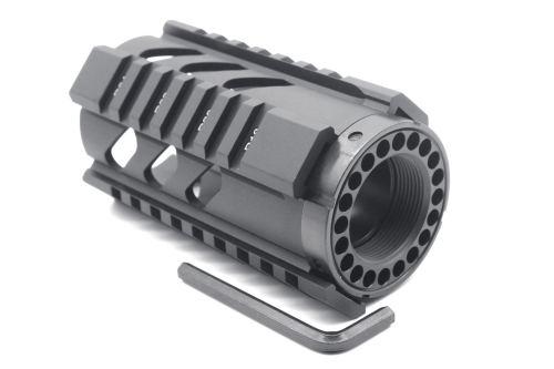 TRIROCK New 4'' Black Quad Rail Handguard Picatinny Rail Mount fits .223/5.56 rifle AR15 AR-15 M16 for real pistol shotgun