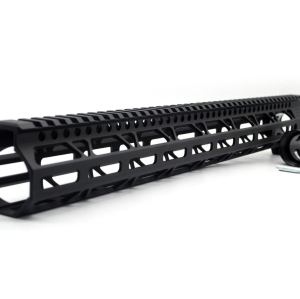 Clamp On Black Tactical 17 inch M-LOK handguard for AR15 M4 M16 with Steel Barrel Nut fits .223/5.56 rifles