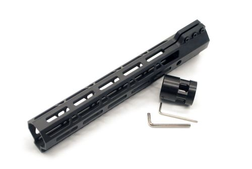 Clamp On Black Tactical 11 inch M-LOK handguard for AR15 M4 M16 with Steel Barrel Nut fits .223/5.56 rifles