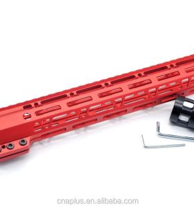 Clamp On Red Tactical 12 inch M-LOK handguard for AR15 M4 M16 with Steel Barrel Nut fits .223/5.56 rifles