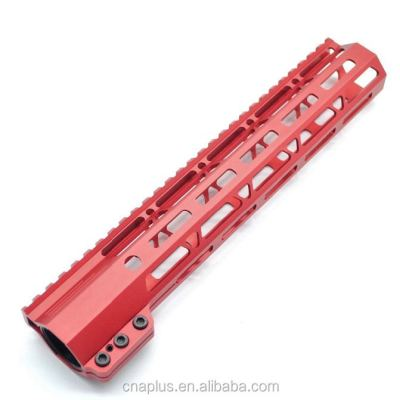 Clamp On Red Tactical 11 inch M-LOK handguard for AR15 M4 M16 with Steel Barrel Nut fits .223/5.56 rifles