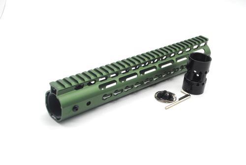 New NSR 12 Inch Length Olive drab green Free Floating KeyMod AR15 Handguard With Rail Mount Steel Barrel Nut