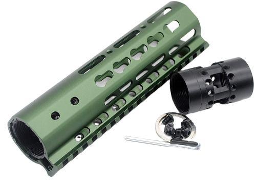 New NSR 7 Inch Length Olive drab green Free Floating KeyMod AR15 Handguard With Rail Mount Steel Barrel Nut