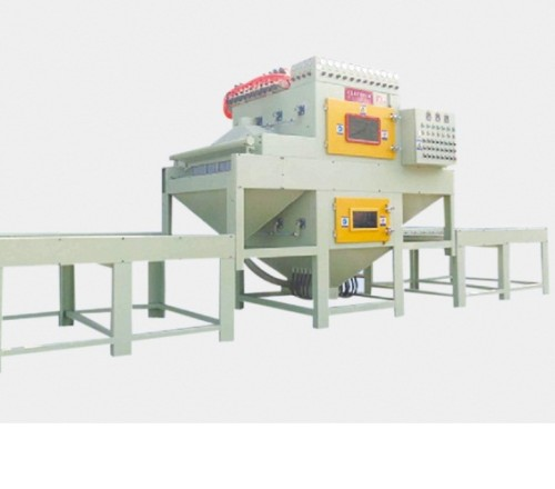 Automatic double-sided sandblasting equipment for stainless steel plate