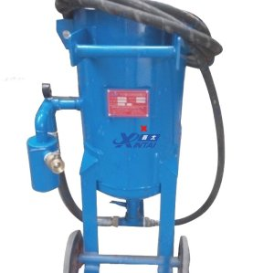 Simple mobile open sand blasting machine