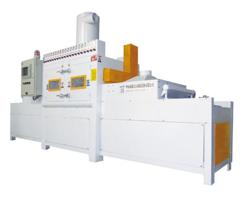 Plane conveyor type automatic sandblasting machine