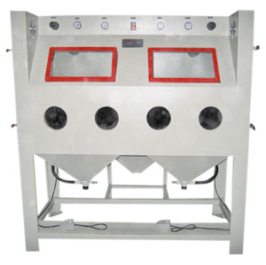 Non-standard double-station manual sand blasting machine