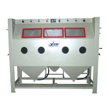 Tiga stasiun non-standar manual mesin sand blasting mahoni furniture sand blasting