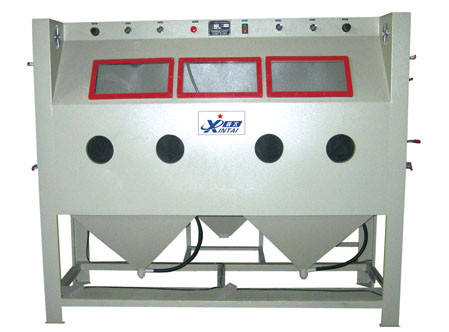 Three-station non-standard manual sand blasting machine mahogany furniture sand blasting machine