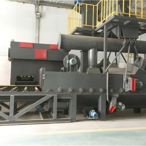 Roller pass type shot blasting machine