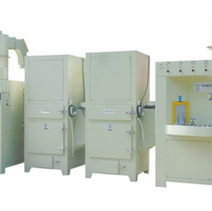 Continuous automatic sandblasting machine