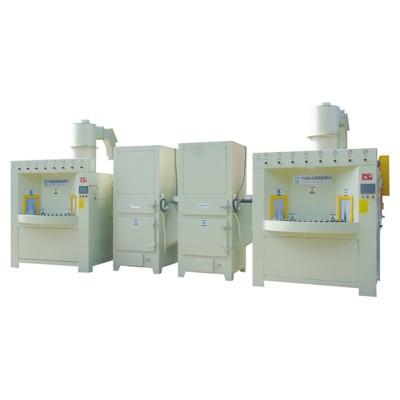 Continuous automatic sandblasting machine