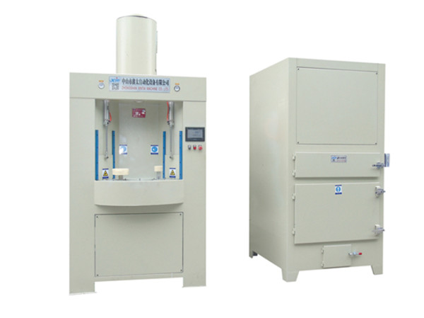 Intermittent automatic turntable sandblasting machine
