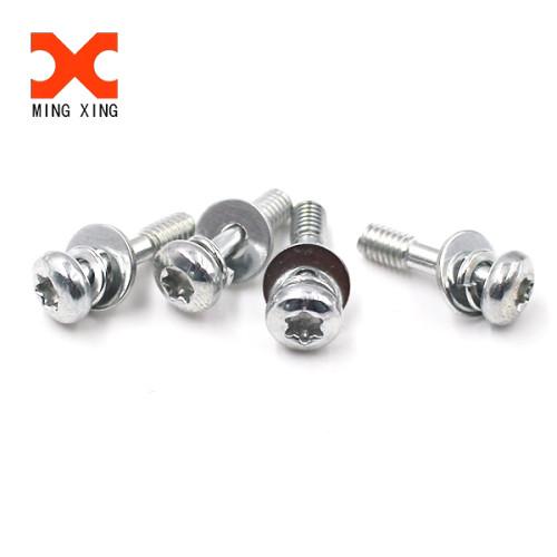 Hexalobular socket pan head screws half thread torx screw