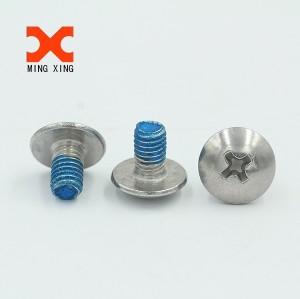 Big flat head glue check screw