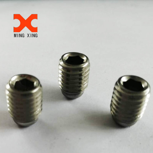 Hexagon socket set screws with flat point
