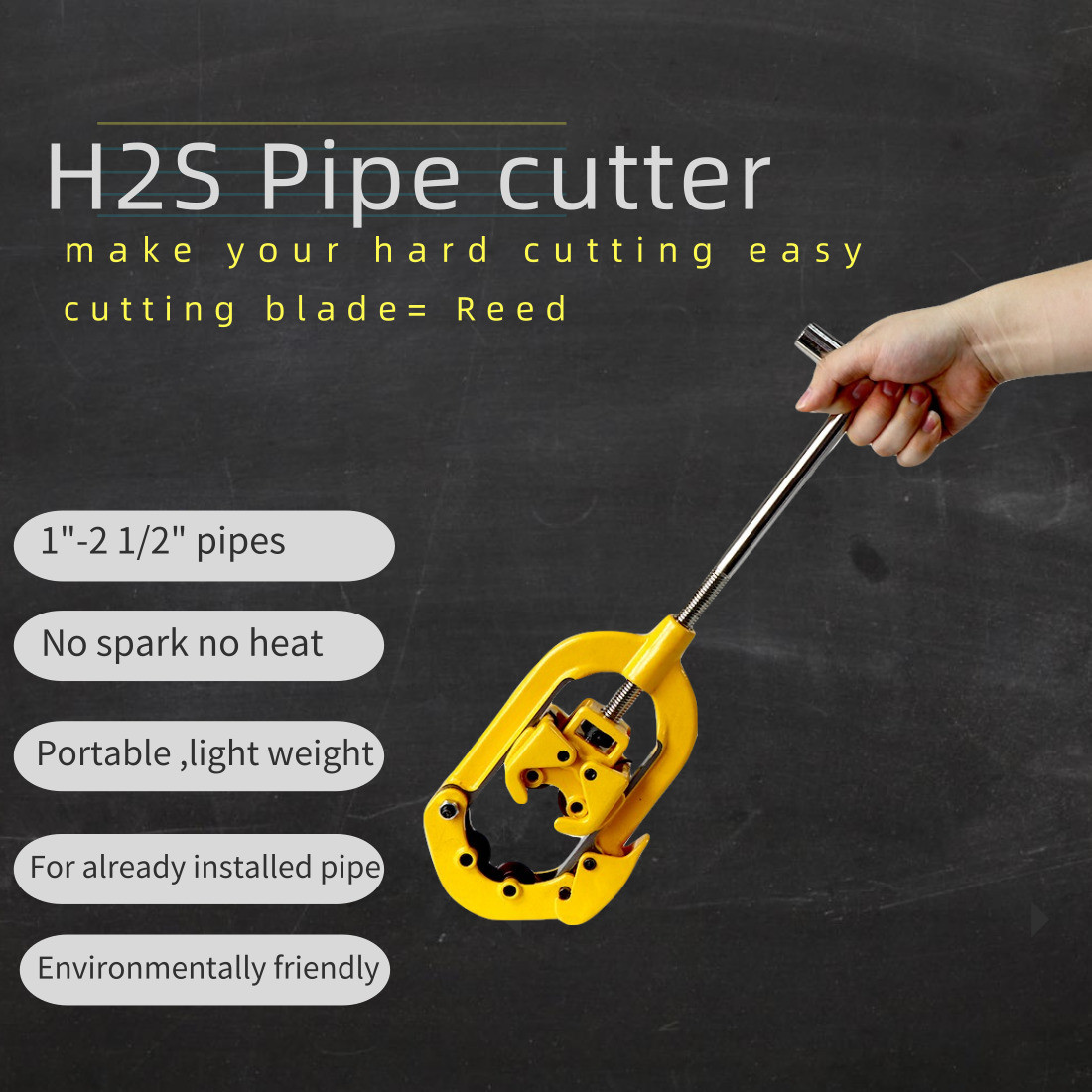 H2S pipe cutter features