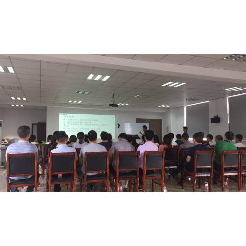 Team building training meeting of departments of C·Cutting factory members