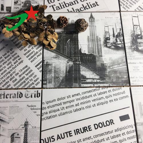 Newspaer design ceramic wall and floor tiles