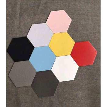 Black hexagon terracotta floor tile for workshop