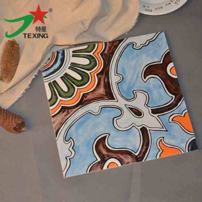 Arabic style moroccan hand painted ceramic tile