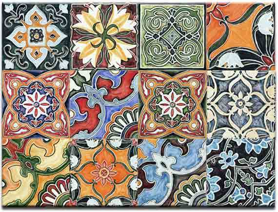Hand Painted Moroccan Ceramic Tile