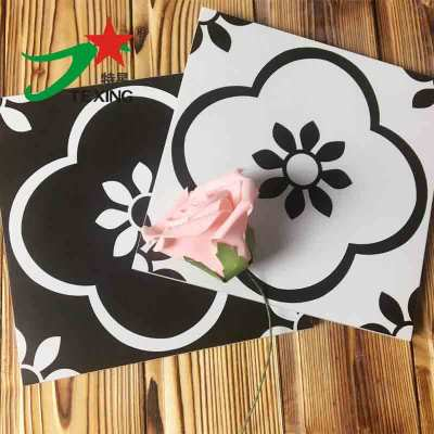 Wear-resistant 20x20cmblack and white out door decorative tiles