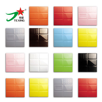 Embossed Subway tiles pure colors fashion ceramic tile 300x300