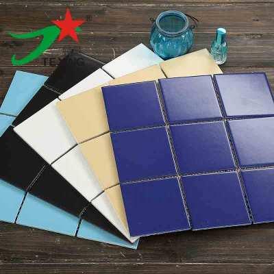 Porcelain Mosaic tiles pure colors  Shining and matt 300x300