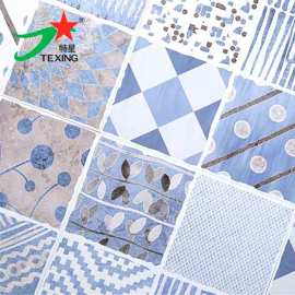 Blue color elegant style 300*300 MM ceramic bathroom tile