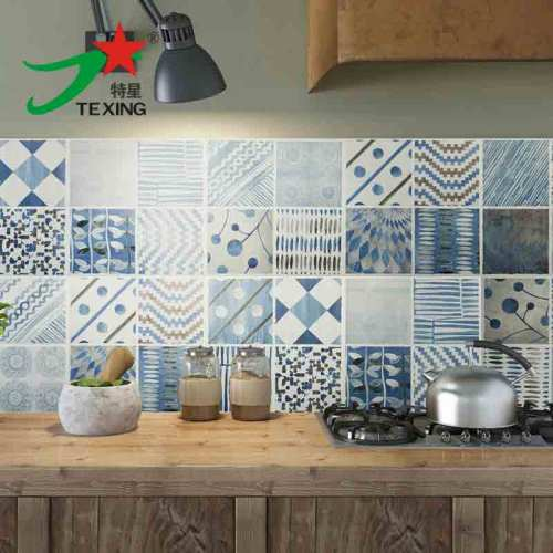 Blue color elegant style 300*300 MM ceramic bathroom tile