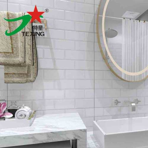 Embossed Subway tiles pure white color 300x600mm