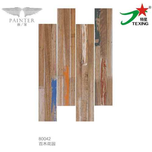 Wooden tiles with colorful patterns 150*800mm