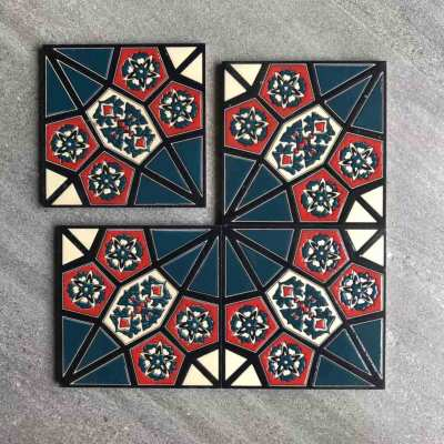 Luxury Islamic style high quality glossy glass kitchen wall tile