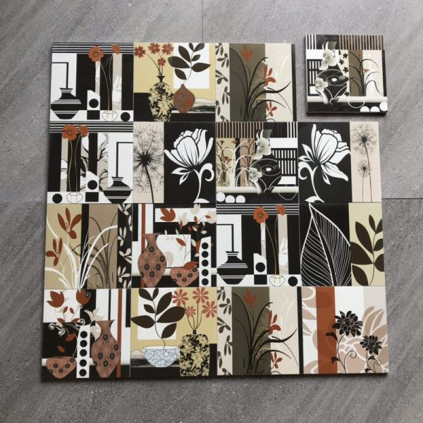 Japanese style 200X200 mm Flower design floor and wall tiles