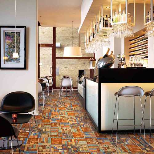 Oracle bone texture glazed rustic ceramic floor tile with competive price