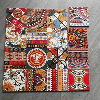 New design in stock  Thangka style 200X200 ceramic tiles