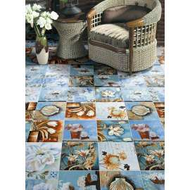 Matt Finish Ceramic Floor Non Slip Rustic  Ink painting style Tile