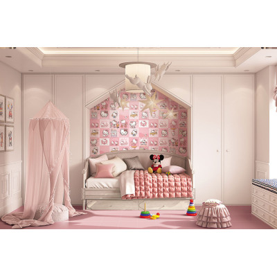 carton pattern childhood style  bedroom floor and wall tiles