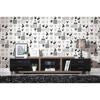 Moose pattern childhood style  bedroom floor and wall tiles