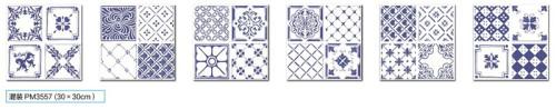 Hot sale blue matt finish floor and wall ceramic tile 300x300