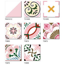 300*300 MM glazed tiles with pink color