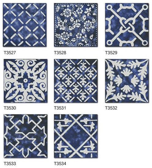 Standard ceramic wall tile sizes 300x300 flower tile rustic balcony tile