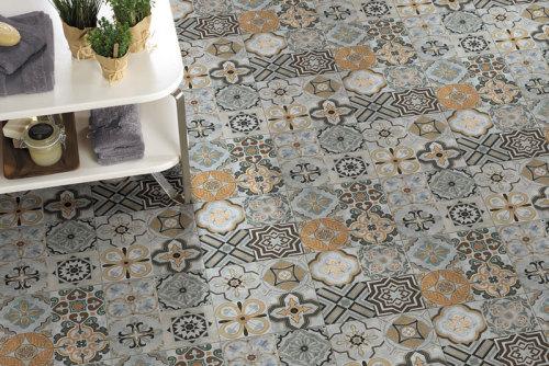 Cement Color Bathroom Ceramic Floor Tile