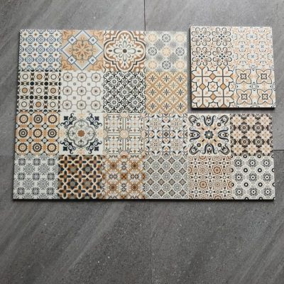 Encaustic  Handmade Ceramic Tile