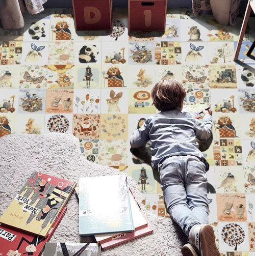 TEXING carton pattern childhood style  bedroom floor and wall tiles Foshan